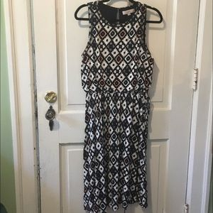 LOFT Multicolored Knit Dress.  Large